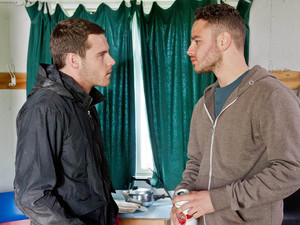 Aaron tells Adam they can't stay as the police will be looking for him