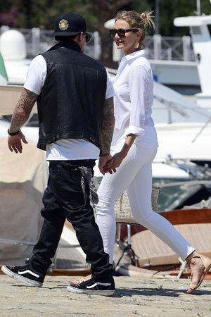 Cameron Diaz and boyfriend Benji Madden leaving Lady Britt super-yacht, Jean-Cap-Ferrat , France - 26 Jul 2014 Cameron Diaz and her boyfriend Benji Madden 26 Jul 2014Cameron Diaz and her boyfriend Benji Madden leaving their super yacht Lady Britt after their holidays in Sardinia and South of the France.