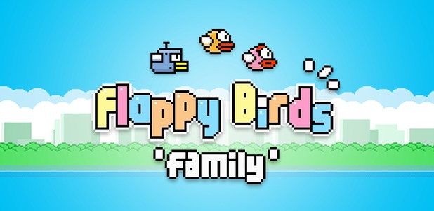 Flappy Birds Family title screen