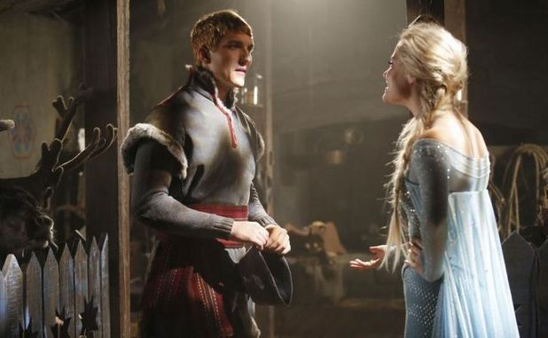 Georgina Haig as Elsa & Scott Michael Foster as Kristoff in Once Upon A Time