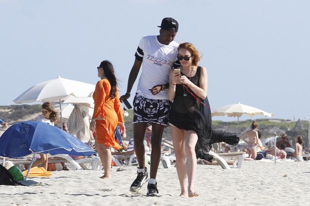 Lindsay Lohan continues enjoying her holiday on the Spanish island of Ibiza.