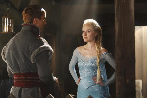 Scott Michael Foster as Kristoff & Georgina Haig as Elsa in Once Upon A Time