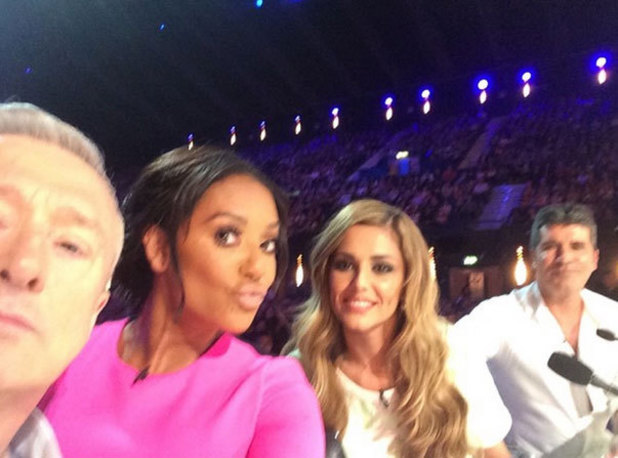 X Factor judges Louis Walsh, Mel B, Cheryl and Simon Cowell