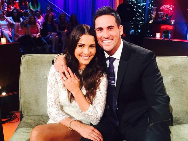 Andi Dorfman and Josh Murray - Twitter picture from the set of The Bachelorette, After the Rose