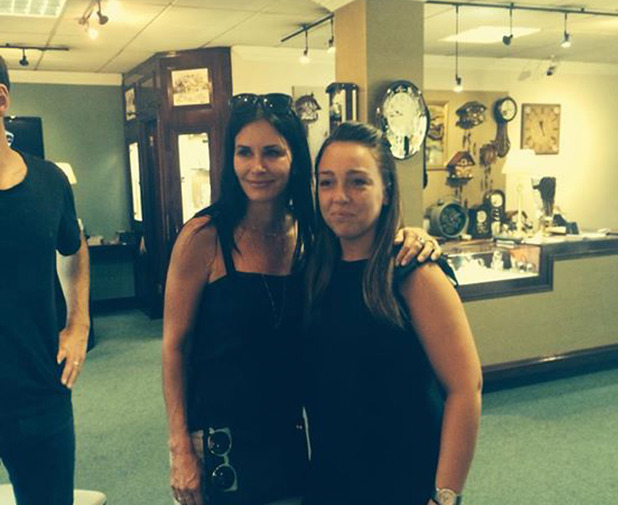 Johnny McDaid, Courteney Cox Pictured: Courteney Cox AND shop assistant Erin Kearney