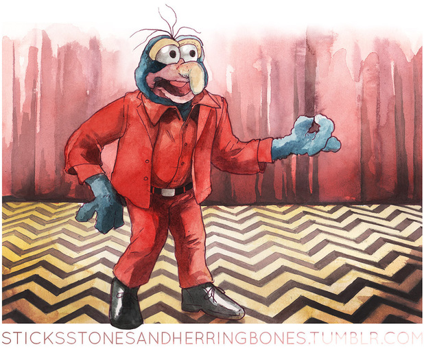 Twin Peaks meets the Muppets in artwork by Justin Lawrence DeVine