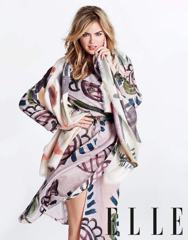 Kate Upton in the September issue of Elle magazine