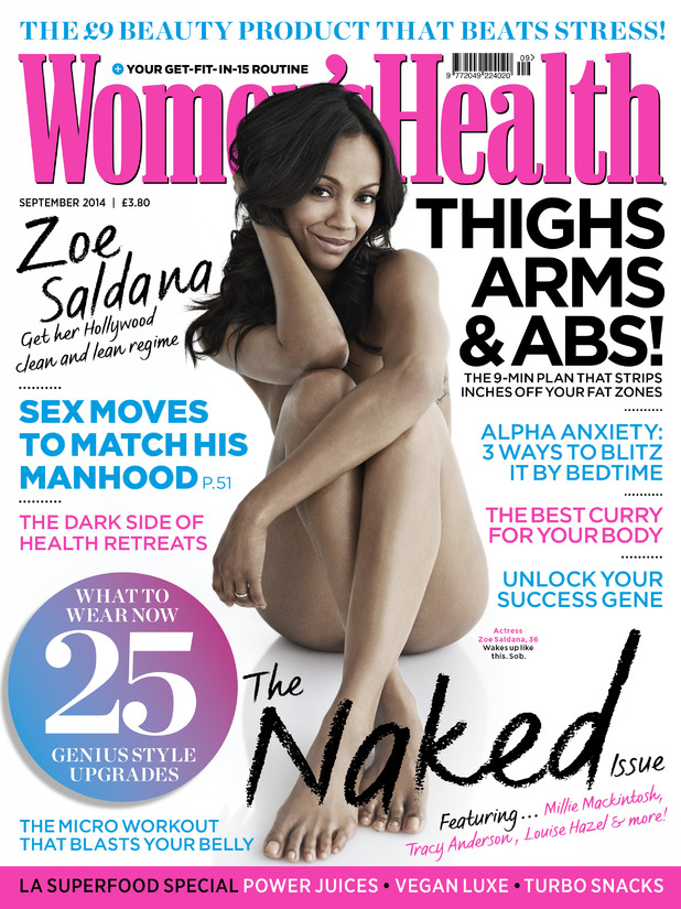 Zoe Saldana for Women's Health