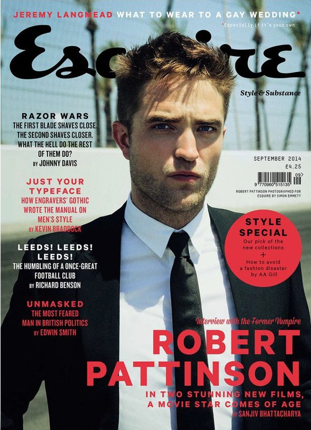 Robert Pattinson in the September 2014 issue of Esquire