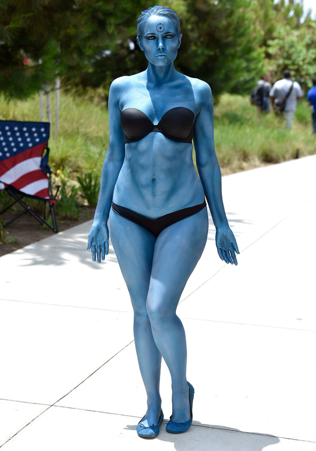 SAN DIEGO, CA - JULY 25: Cosplayer Toni Darling, from Los Angeles, Comic-Con International 2014 on July 25, 2014 in San Diego, California. (Photo by Frazer Harrison/Getty Images)