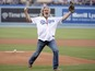 See 'The Dude' Jeff Bridges's first pitch