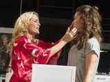 Gillian Anderson as Blanche DuBois & Vanessa Kirby as Stella in A Streetcar Named Desire performed at the Young Vic theatre in London