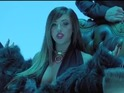 Holly Hagan is surrounded by male suitors in the video for her debut single.