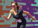 Alesha Dixon virtually races Usain Bolt
