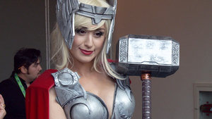At San Diego Comic-Con we asked cosplayers what they made of Marvel's announcement that Thor was to be replaced by a woman.