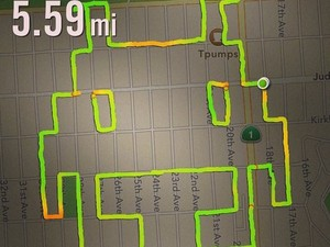 Claire Wyckoff uses GPS to 'draw run' pictures