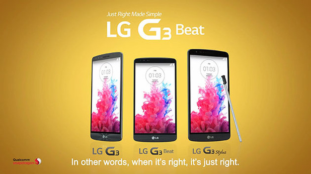 The LG G3 family of smartphones