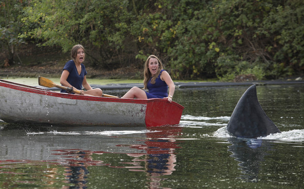 Boaters are pranked by the Finsbury Shark for the launch of Shark Week