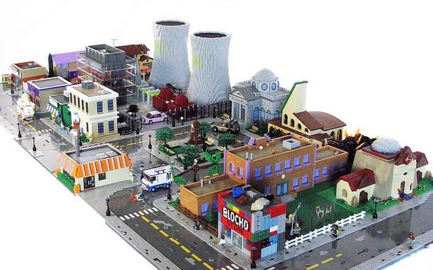 Matt de Lanoy's Lego Springfield