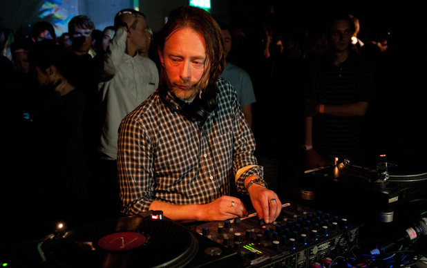 Thom Yorke of Radiohead performs a DJ set at Boiler room #69