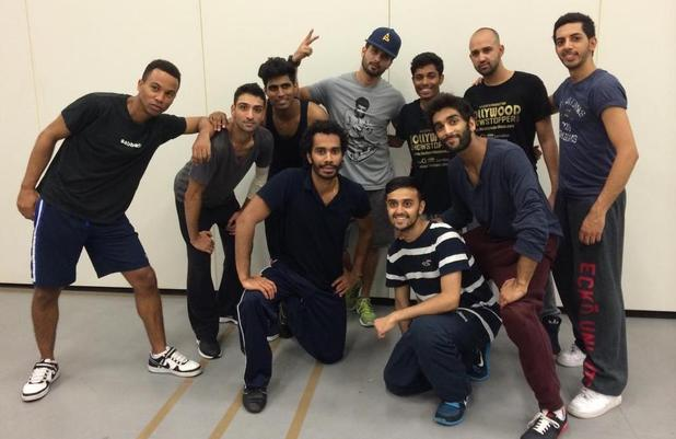 Shahid Kapoor with the BollyFlex crew