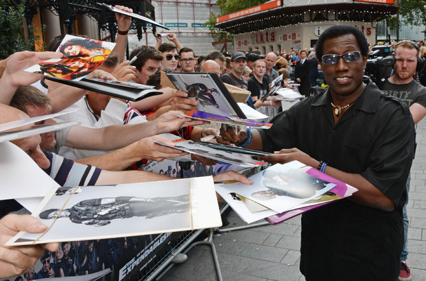 Wesley Snipes attends the World Premiere of 'The Expendables 3' at Odeon Leicester Square