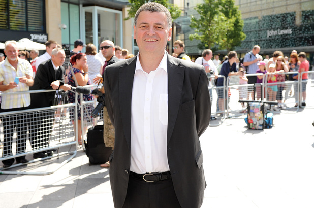 Steven Moffat at the launch of the Doctor Who World Tour