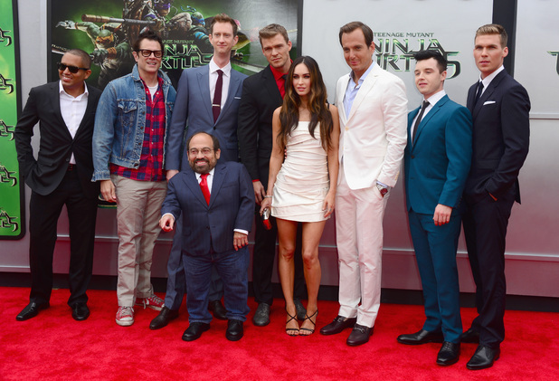 The TMNT cast attend 'Teenage Mutant Ninja Turtles' premiere at Regency Village Theatre