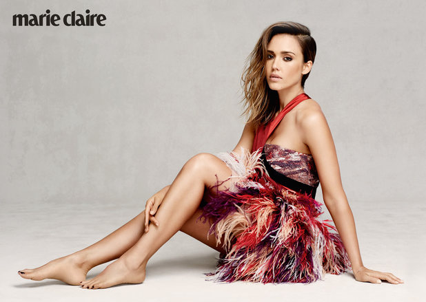 Jessica Alba photoshoot for Marie Claire