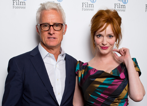 John Slattery and Christina Hendricks
