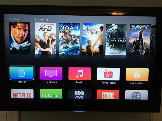 Screenshot of the latest Apple TV beta