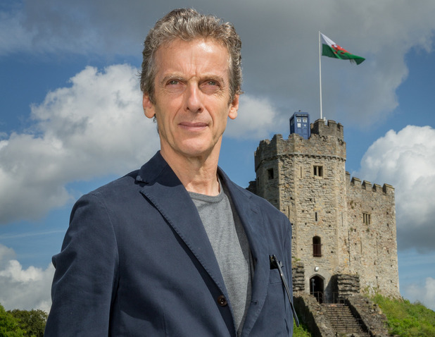Peter Capaldi in Cardiff on the first leg of the Doctor Who World Tour