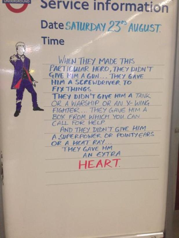 Doctor Who tube message