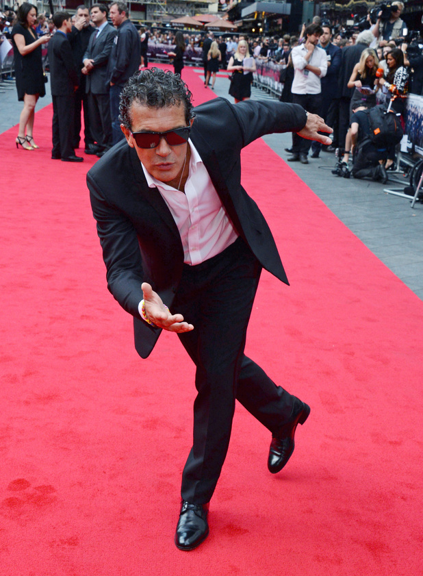 Antonio Banderas attends the World Premiere of 'The Expendables 3' at Odeon Leicester Square