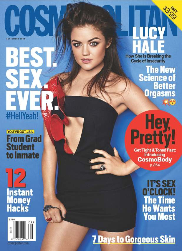 Lucy Hale covers the September 2014 issue of Cosmopolitan