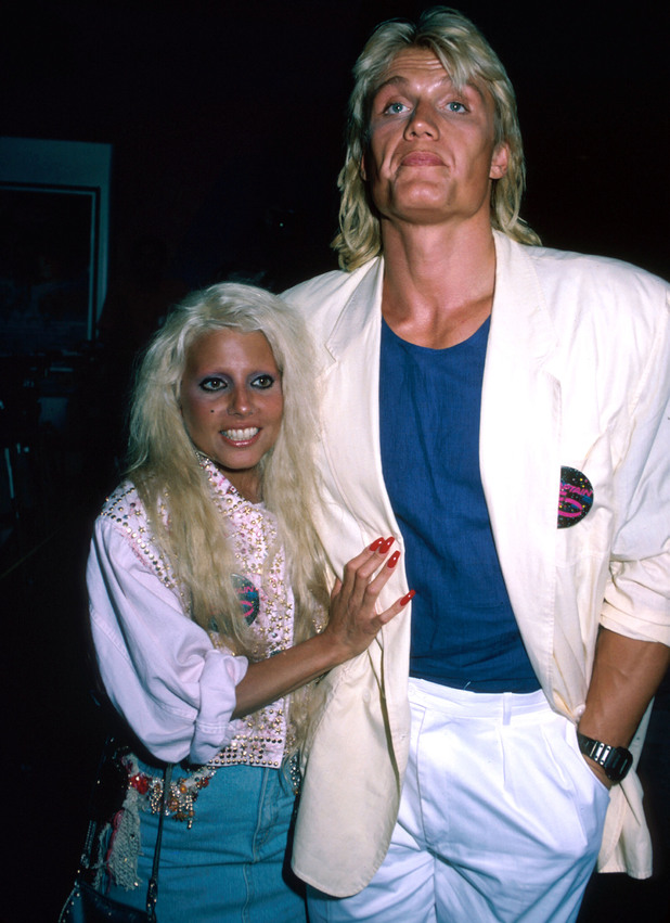 Singer Dale Bozzio and actor Dolph Lundgren. (Photo by Kevin Winter/DMI/The LIFE Picture Collection/Getty Images)