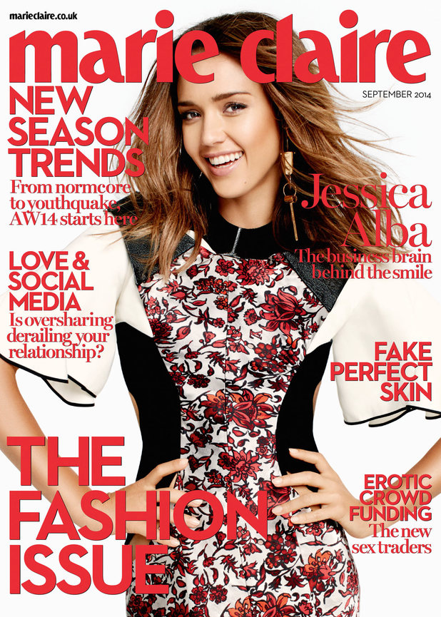 Jessica Alba on the cover of Marie Claire