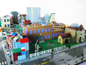 Matt de Lanoy creates Springfield in Lego to celebrate 550th episode.