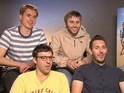 The Inbetweeners creators quiz the film's stars with Digital Spy reader questions.