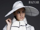 Emma Ferrer makes her modelling debut in the latest Harper's Bazaar issue.