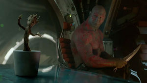Guardians of the Galaxy end credits dancing Baby Groot scene