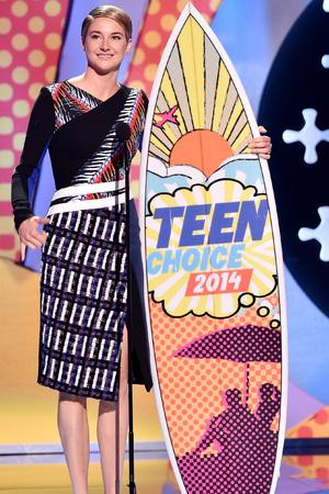 Shailene Woodley at the Teen Choice Awards 2014