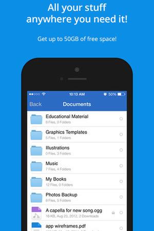 MediaFire app for iOS