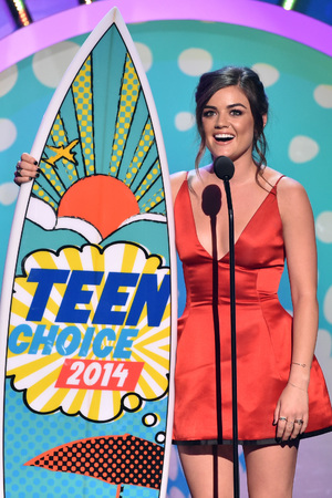Lucy Hale at the Teen Choice Awards 2014
