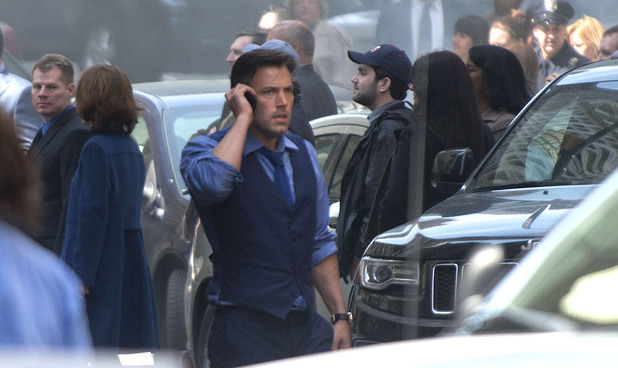 Ben Affleck as Bruce Wayne on the set of Batman V Superman: Dawn of Justice in Detroit