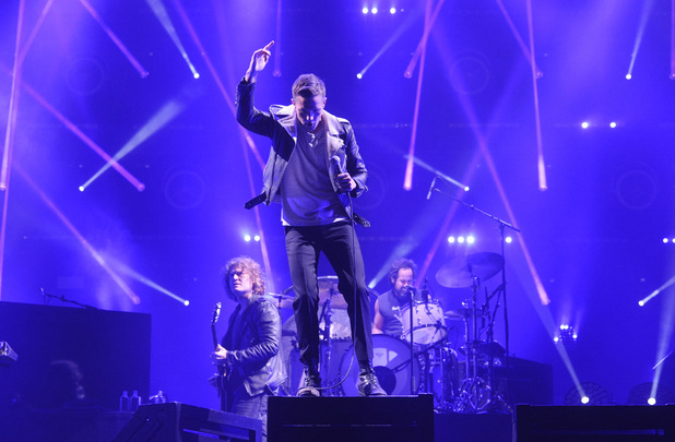 The Killers perform on stage at V festival 2014