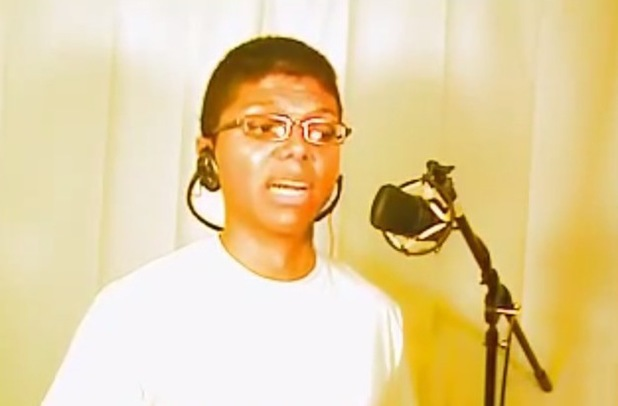 Tay Zonday in legendary YouTube video Chocolate Rain