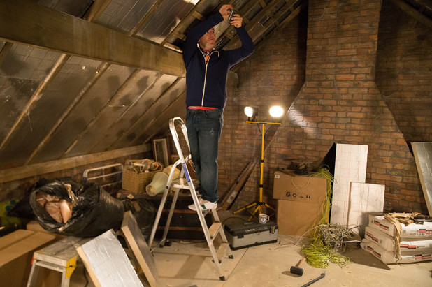 Tyrone takes pictures of the loft conversion