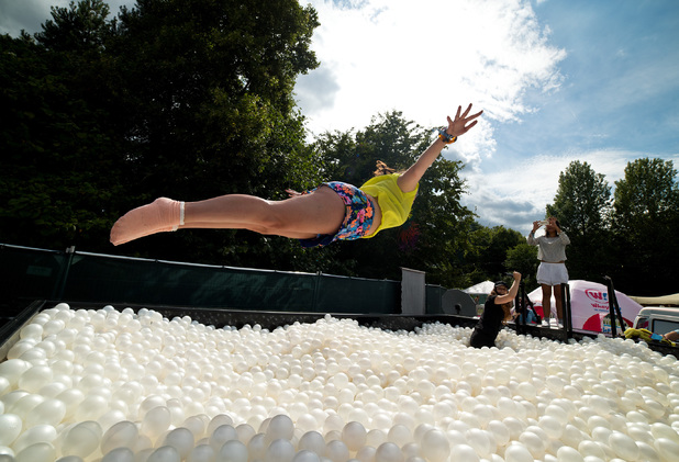The Xperia Access ball pit at V Festival 2014