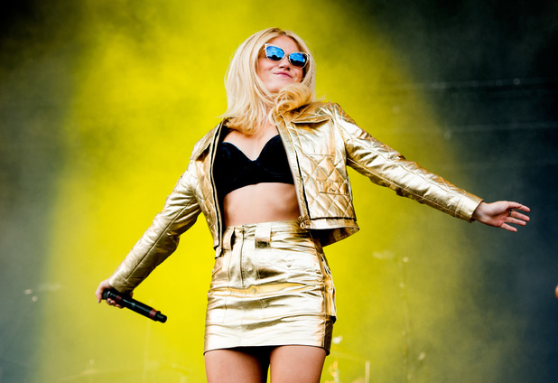 Pixie Lott performs on stage at V festival 2014